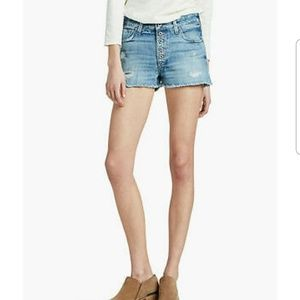 Lucky Brand The High Rise Shortie Tatum Jeans 24